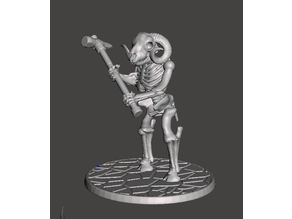 Skeleton Warrior Beastman Ram/Sheep - Warhammer