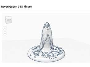 Raven Queen D&D Figurine