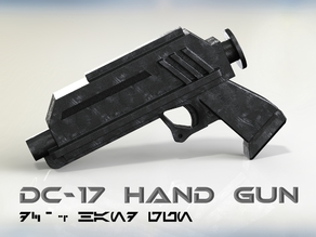 DC-17 Hand Blaster (Authentic Phase I Animated Version)