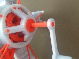 Hand Crank for 5-Cylinder Radial Engine Model
