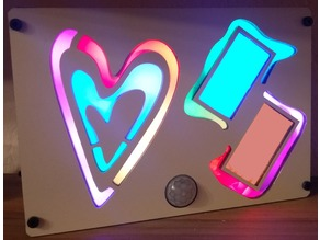 Illuminated Heart Picture Frame
