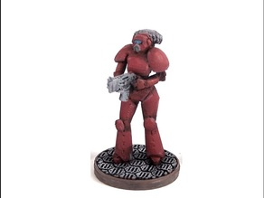 Female Space Trooper (supportless printing)