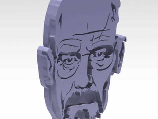 Walter White - Breaking Bad - Keychain Stencil 3D