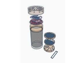 Desktop cylinder shrimp aquarium
