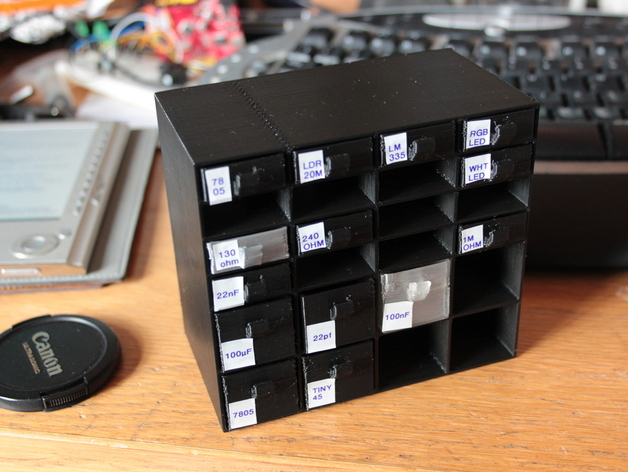Mini Storage Bins And Rack By Smartroad Thingiverse