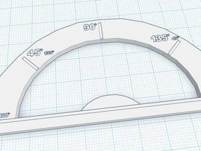 Simple Protractor & Straight Edge
