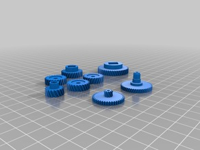 silent roomba helical gear sets
