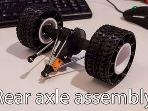 Printed truck V2: Rear axle