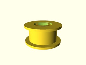 Idler Pulley Bearing, Prints Fully Assembled
