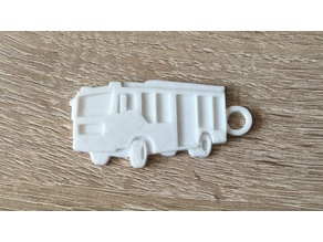 German fire truck keychain