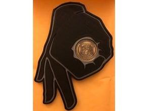 Gotcha Challenge Coin Holder