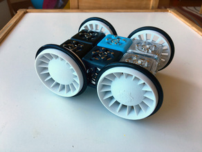 Updated wheels for Cubelets modular robot, with freewheel option