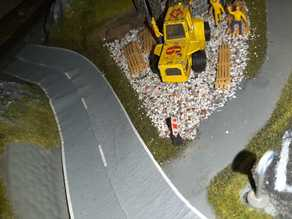 H0 scale Baustellen Bake/construction barrier