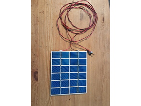 Frame for low-cost 6V/0.32A-1.92W DIY solar module // Rahmen für günstiges 6V/0,32A-1,92W DIY Solarmodul