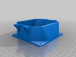 120mm fan to 100mm flat profile duct system side mount