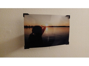 Floating photo frame with Photo Corners