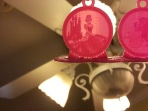 Cinderella Lithophane Pendant