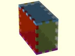 Parametric lasercuttable box joint box