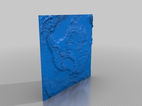 Antarctica 3D model with removable ice sheets