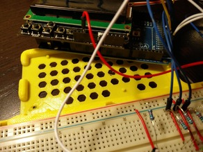 Arduino mega and large protoboard bumper
