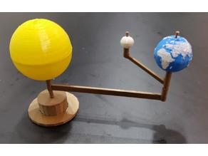 Sun - Earth - Moon system