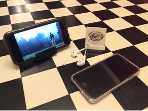 Smartphone Stand (and Earbud/Cable Storage)