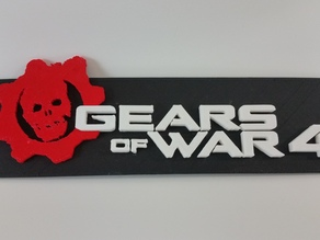 Gears of War 4 Logo Plate