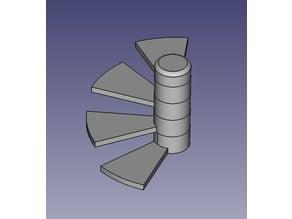 Spiral stairs 28mm miniature