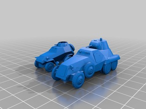 2 Russian Armoured cars