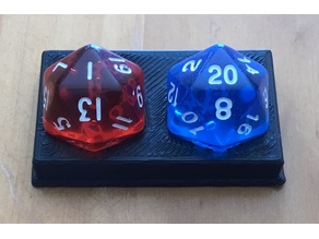 Double D20 Holder