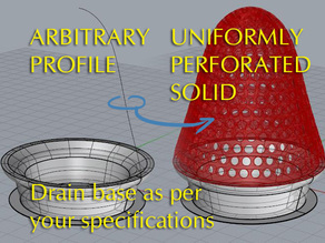 Uniformly perforated objects: a useful drainstrainer example