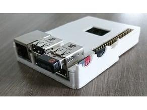 Raspberry Pi 3 Slim Case with Heatsink Cutout - Small Rods - MicroSD holder