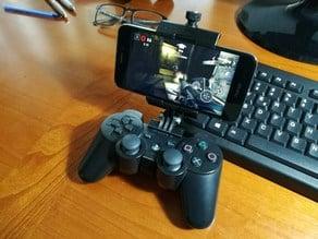 Universal smartphone mount for DUALSHOCK 3 (PS3 controller)