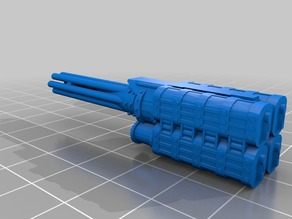 Gatling Cannon for Giant Robot (carapace)