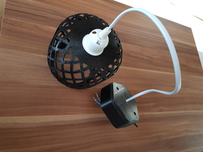 Lamp ceiling mount cable box