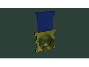 100mm_Blast_Gate_for_Dust_Collector_Magnet_Stop