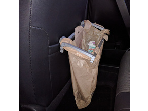 Car Plastic Bag Trash Holder - For Sleeve Behind Passenger's Seat