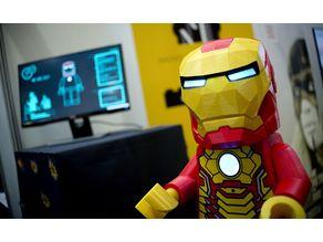 Giant Lego Minifigure : Néo Iron man