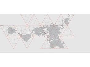 Dymaxion Map (Fuller Projection) ready for Laser
