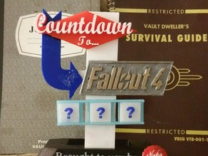 Fallout Countdown Desk Sign