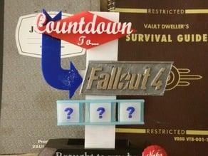 Fallout Countdown Desk Sign