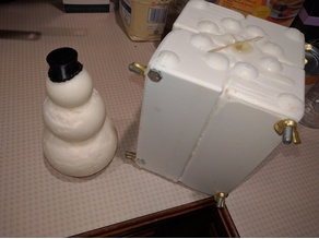 Snowman Candle Mold