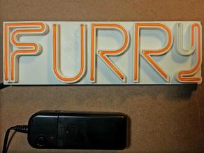 Furry EL Wire Lightup Neon Badge
