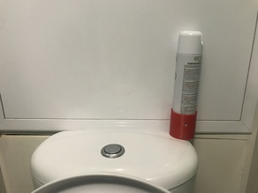Mount Air freshener to the toilets wall