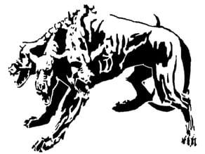 Cerberus stencil