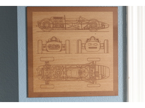 Porsche Wall Art - Laser Cut