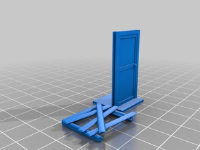 Zombicide door with removeable barricade