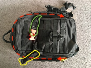5.11 Rush backpack compression strap adjustment