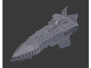 Battlefleet Gothic Repulsive class grand cruiser