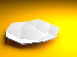 Low poly plate